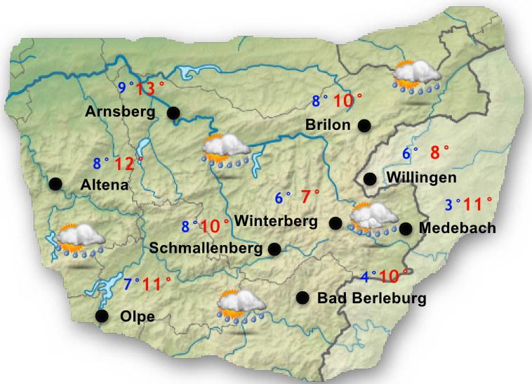 Sauerland Karte Berge.Oktober 2018 Wetter Sauerland De